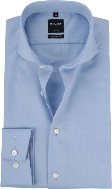 OLYMP Luxor MF Overhemd Twill Blauw
