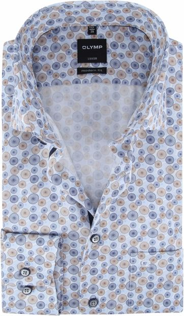 OLYMP Luxor MF Shirt Blue Circle