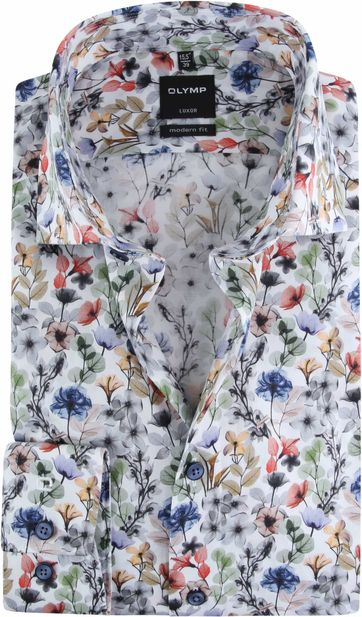 OLYMP Luxor MF Shirt Flowers Multicolour