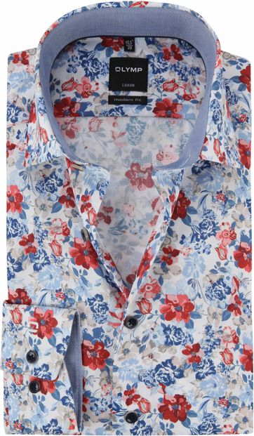OLYMP Luxor MF Shirt Multicolour Flowers