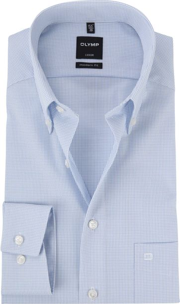 OLYMP Luxor MF Shirt Pane Blue