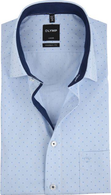 OLYMP Luxor MF Shirt SS Blue