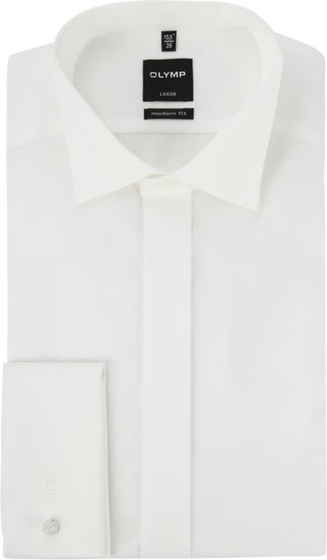 OLYMP Luxor MF Tuxedo Shirt Extra Long Sleeve Ecru