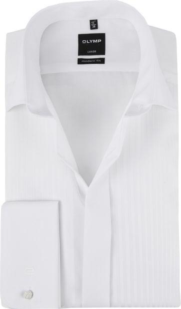 OLYMP Luxor MF Tuxedo Shirt White Dessin