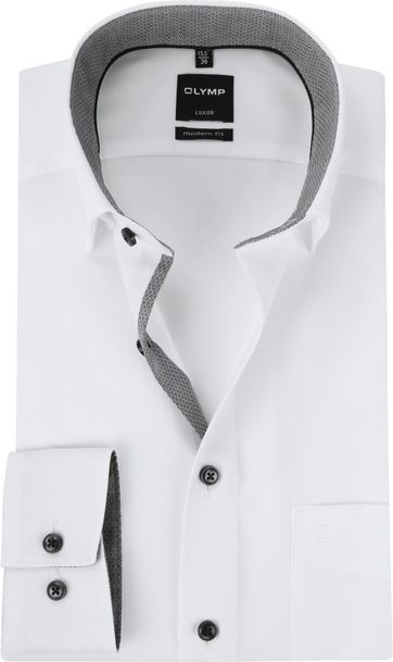 OLYMP Luxor MF White Grey Shirt