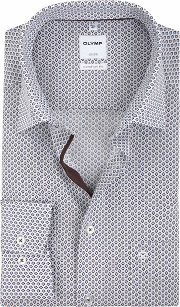 OLYMP Luxor Modern Fit Overhemd Patroon