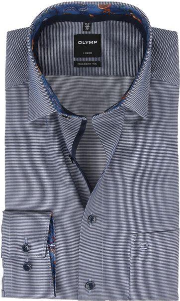 OLYMP Luxor Modern Fit Overhemd Zwart