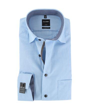 OLYMP Luxor Non Iron Overhemd Modern Fit Blauw Streep SL7