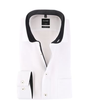 OLYMP Luxor Non Iron Overhemd Wit