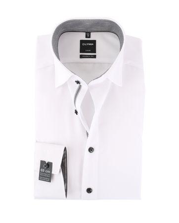 OLYMP Luxor Non Iron Overhemd Wit SL7