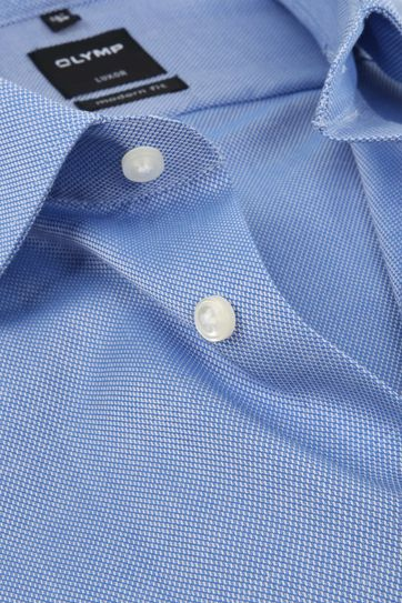 Olymp Luxor Non Iron Shirt Modern Fit Blue