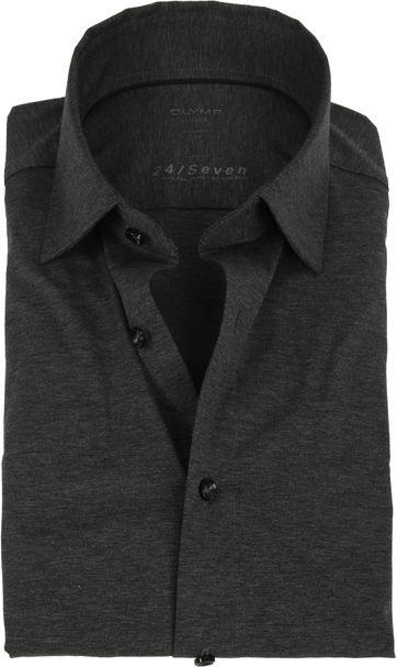 OLYMP Luxor Overhemd 24/Seven Antraciet