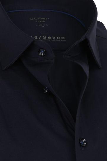 OLYMP Luxor Overhemd 24/Seven Navy