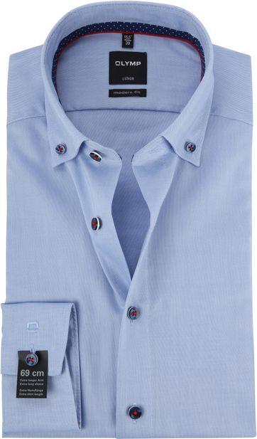 OLYMP Luxor Overhemd Blauw MF SL7