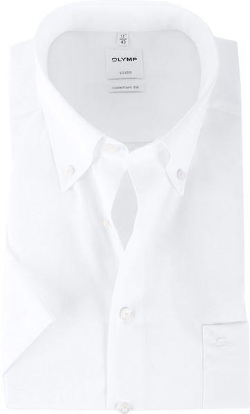 OLYMP Luxor Overhemd Comfort Fit Wit Korte Mouw