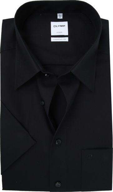 OLYMP Luxor Overhemd Comfort-Fit Zwart