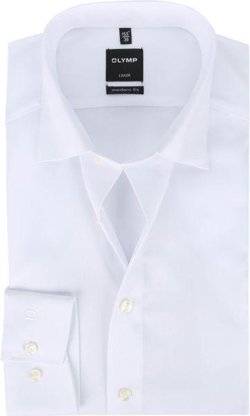 OLYMP Luxor Overhemd Effen Wit