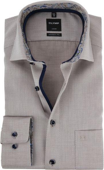 OLYMP Luxor Overhemd MF Beige