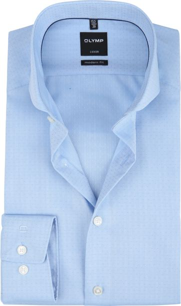 OLYMP Luxor Overhemd MF Blauw