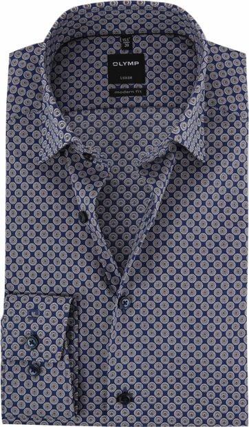 OLYMP Luxor Overhemd MF Bruin Dessin
