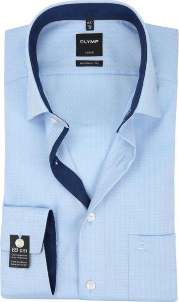 OLYMP Luxor Overhemd MF Dessin Blauw SL7