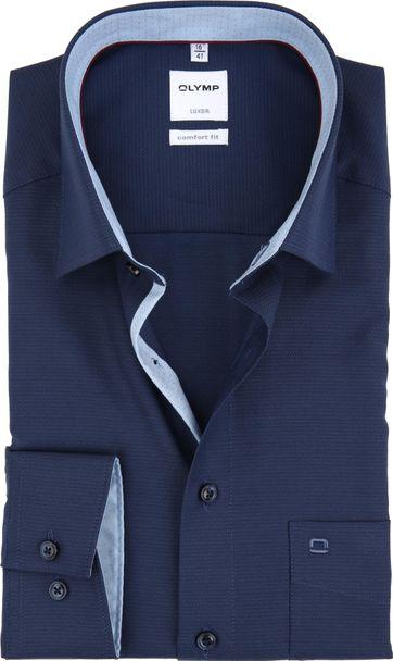 OLYMP Luxor Overhemd Navy Comfort Fit