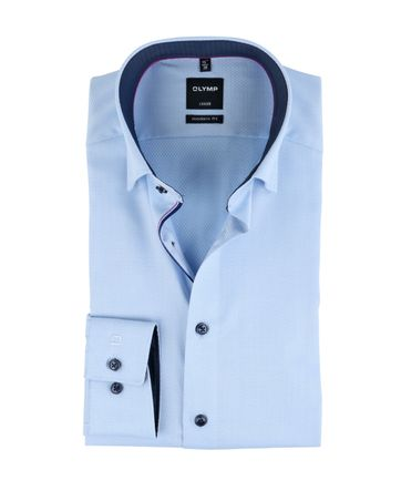 OLYMP Luxor Overhemd Non Iron Blauw
