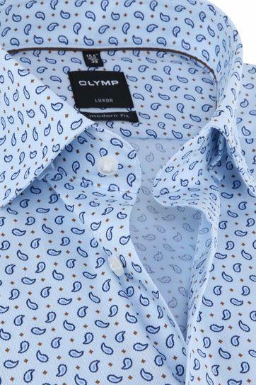 OLYMP Luxor Overhemd Paisley Blauw