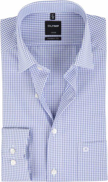 OLYMP Luxor Overhemd Slim Line Blue Check