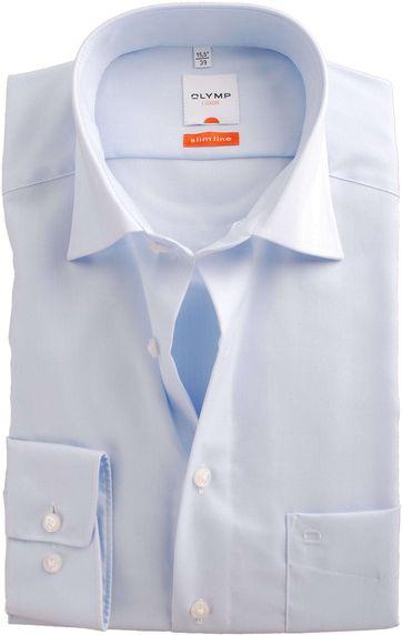 OLYMP Luxor Overhemd Slime Line Lichtblauw Herring