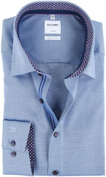 OLYMP Luxor Overhemd Strijkvrij Blauw Comfort Fit