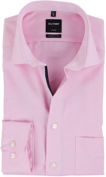 OLYMP Luxor Overhemd Strijkvrij Roze