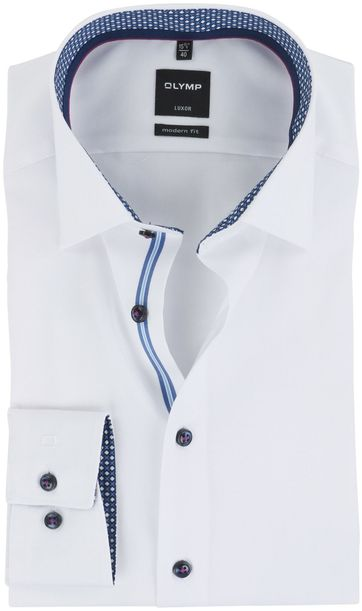 OLYMP Luxor Overhemd Strijkvrij Wit
