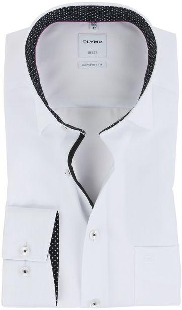 OLYMP Luxor Overhemd Strijkvrij Wit Comfort Fit