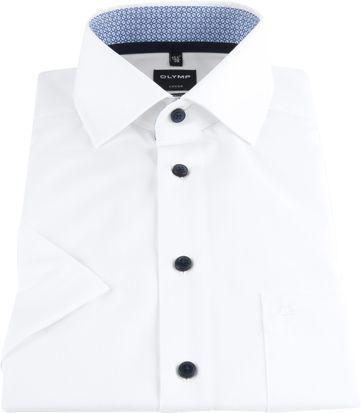 OLYMP Luxor Overhemd Wit Dessin