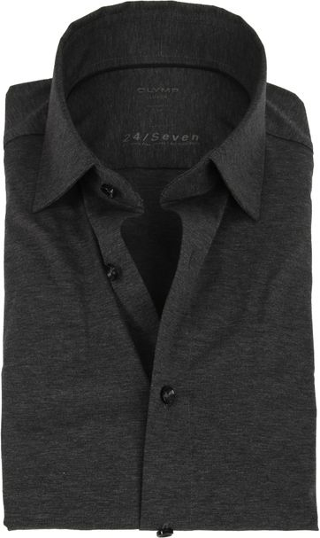 OLYMP Luxor Shirt 24/Seven Dark Grey