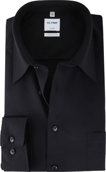 Olymp Luxor Shirt Black Comfort Fit