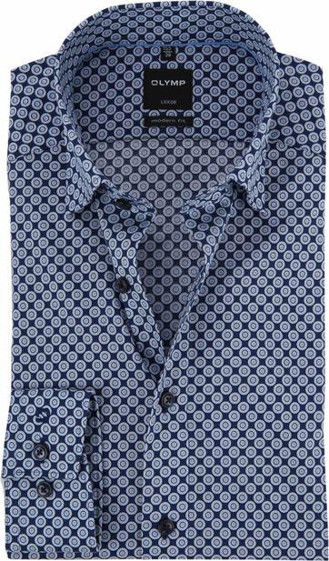 OLYMP Luxor Shirt Blue Dessin