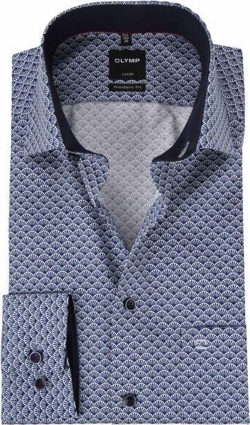 OLYMP Luxor Shirt Blue Dessin MF