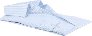 OLYMP Luxor Shirt Comfort Fit Streep - Blauw maat 47