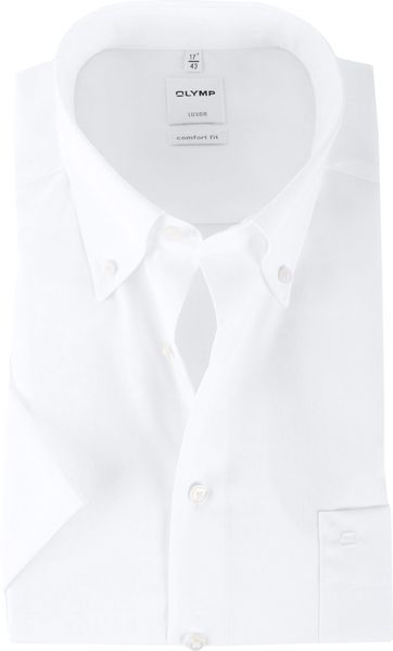 OLYMP Luxor Shirt Comfort Fit White Short Sleeve
