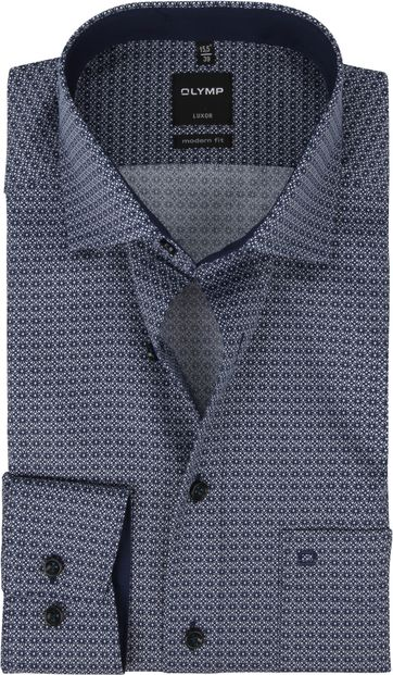 OLYMP Luxor Shirt Design Marine Blue