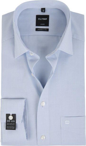 Olymp Luxor Shirt Extra Long Sleeve MF Blue Checkered