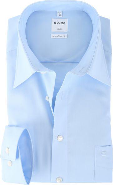 OLYMP Luxor Shirt IJsblauw Comfort Fit