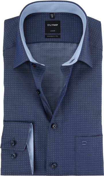OLYMP Luxor Shirt MF Pinpoint Marine