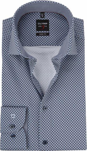 OLYMP Luxor Shirt Navy Dessin