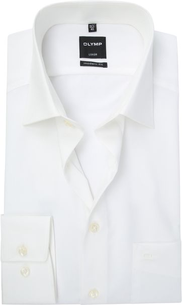 Olymp Luxor Shirt Off-White Modern Fit
