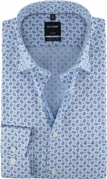 OLYMP Luxor Shirt Paisley Blue