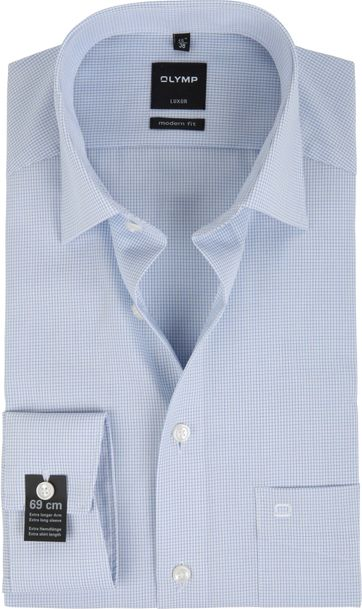 Olymp Luxor Shirt SL7 Modern Fit Blue Check