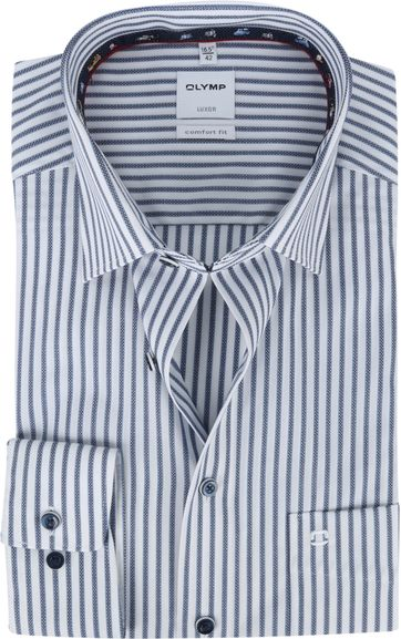OLYMP Luxor Shirt Stripes Blue White
